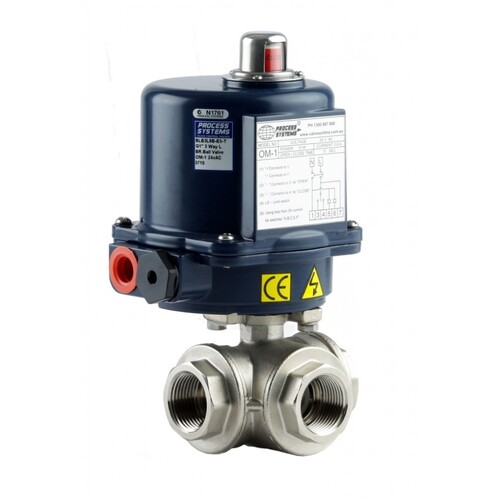 3 Way Stainless Steel Electric Ball Valve