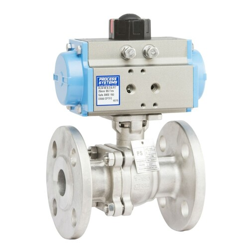ANSI 150 Stainless Steel Flanged Double Acting Fire Safe Ball Valve